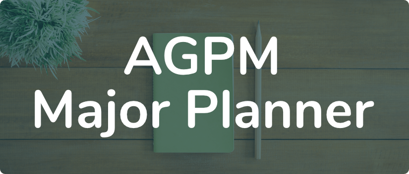 AGPM Major Planner banner
