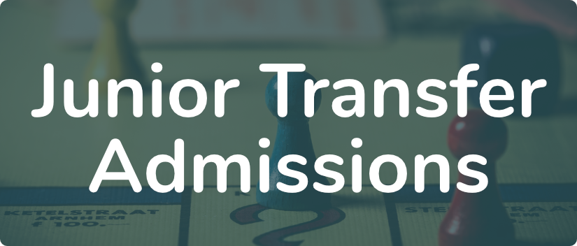 Junior Transfers Admissions banner