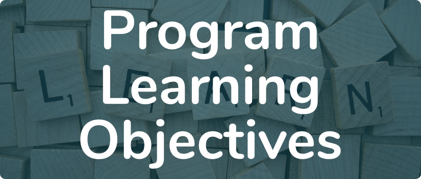 Program Learning Objectives banner